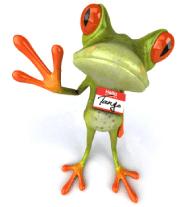 Tango the Frog Hello Graphic