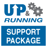 UP Running support package logo