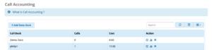 screenshot example of Call Accounting module