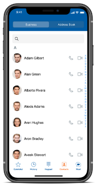 Sangoma Connect IOS Contacts