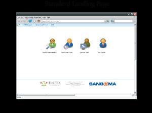 FreePBX customizable landing page