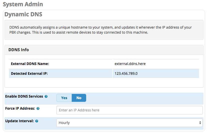 Dynamic DNS Interface