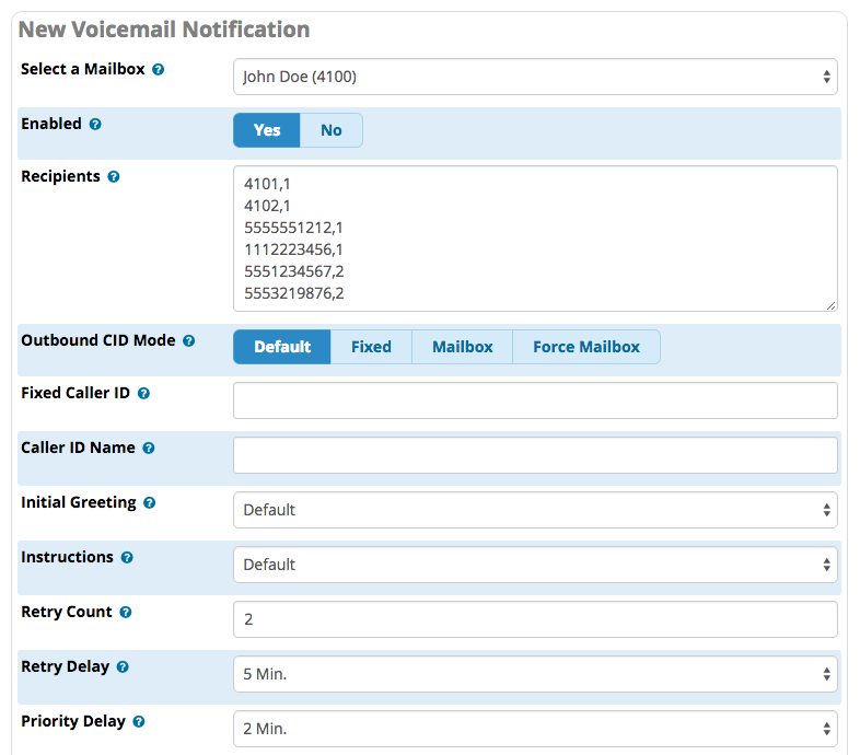 VM Notify Interface