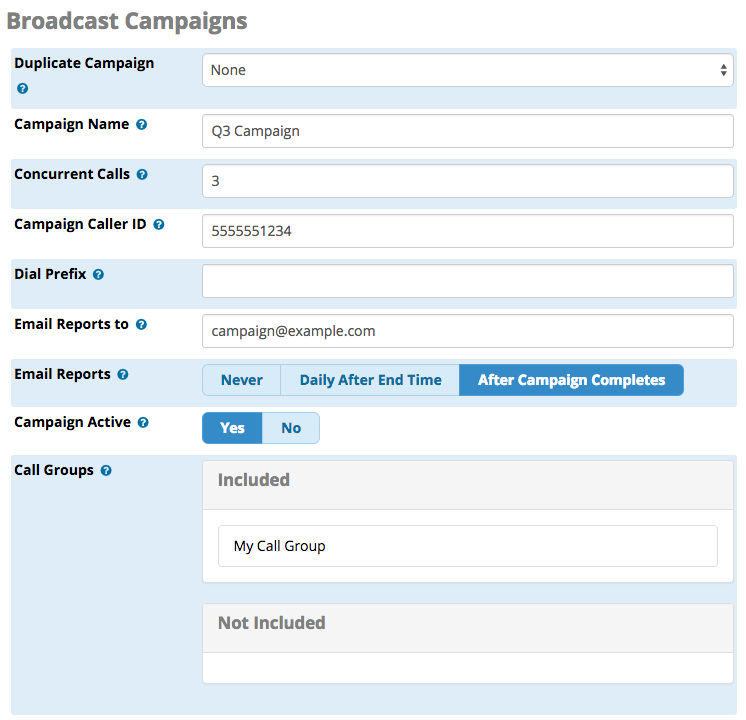 Broadcast Campaigns