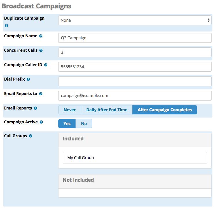 Broadcast Campaigns
